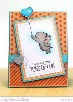 Adorable Elephants Card by Julie Dinn