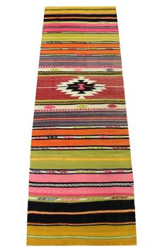 Turkish handmade  runner Kilim Rug,Antique,red,green,orange,blue,brown,pink coloured,kilim pillow,art,Modern home decor,housewares