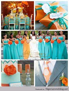 turquoise fuschia and orange wedding colors - Google Search
