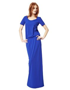 LaDress by Simone - Lara - cobalt Maxi Dress With Sleeves, Short Sleeve Dresses, Maxi Dresses, Modest Outfits, Modest Fashion, Lounge Wear, Dresses Online, Beautiful Dresses, Cold Shoulder Dress