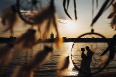 Свадьба в стиле бохо. Фотосессия на закате.