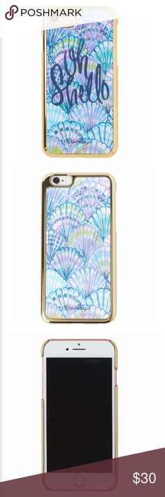 [Lilly Pulitzer] Oh Shello iPhone 7 Case Mermaid Lilly Pulitzer iPhone 7 Case. Oh Shello print. Holographic. Front bumper. Flexible and durable.  🔹Condition: NWT. New. Lilly Pulitzer Accessories Phone Cases