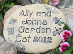 Personalized GARDEN STONES  Welcome sign  Customized by Poemstones, $60.00