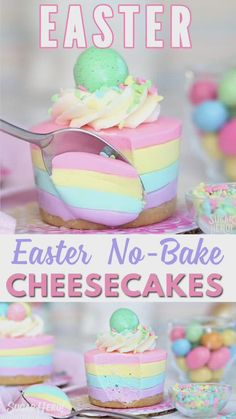 These mini cheesecakes are going to be the star of the show this Easter! They are full of flavor, and perfect for sharing! Don't hesitate with this recipe, it's no-bake! deserts recipes easy desserts Easter No-Bake Mini Cheesecakes Food Cakes, Cupcake Cakes, Mini Cakes, Desserts Ostern, Köstliche Desserts, Desserts For Birthdays, Mini Cheesecakes, Yummy Treats, Sweet Treats