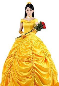 Cosplayhome Women's Beauty and the Beast Belle Princess Cosplay Dress Gown, http://www.amazon.com/dp/B00OPTTDV4/ref=cm_sw_r_pi_awdm_qa3pxb1RGCAH3