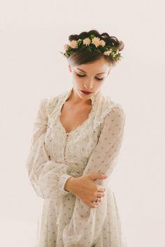 Gunne Sax floral dress Boho wedding gown vintage by whichgoose, $108.00