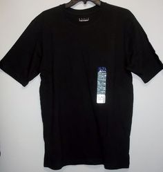 NWT Basic Editions Black Small Crew Tee Basic Solid 100% Cotton T-Shirt (S) #BasicEditions #BasicTee