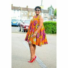 Ankara can be trendy! A hint of a hue and pop of bright shoes will give a classic print an instant update. With genuinely bespoke tailoring for a perfect fit,… Ankara Short Gown Styles, Short African Dresses, Latest African Fashion Dresses, African Print Dresses, African Print Fashion, Ankara Gowns, Moda Afro, African Print Dress Designs, Ladies Day Dresses