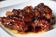 pečený vepřový bůček - Hledat Googlem Ribs On Grill, Food 52, Eating Well, Barbecue, Steak, Pork, Food And Drink, Menu, Baking