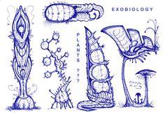 Alien Plants by MickMcDee on deviantART