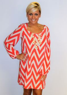 gigi's Boutique | Women's Clothing & Accessories Shop in Crossville TennesseeChev It To Me Chevron Dress