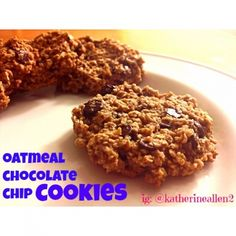 Clean Oatmeal Chocolate Chip Cookies