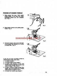 Singer  Sewing Machine Instruction Manual  Straight Stitch