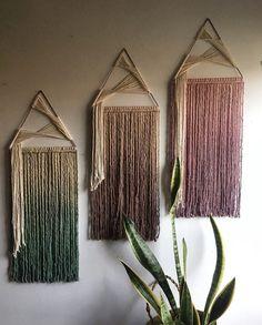 Macrame Wall Hanging Patterns, Macrame Art, Macrame Design, Macrame Projects, Macrame Patterns, Quilt Patterns, Yarn Wall Art, Yarn Wall Hanging, Wall Hangings