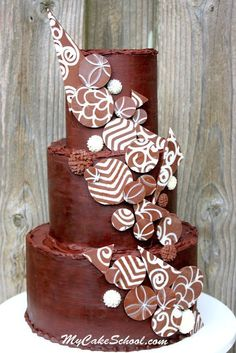 Add Drama with Chocolate Accents! Cake Decorating Video Tutorial Cakes Cakes and More Cakes Cake Decorating Designs, Cake Decorating Classes, Cake Designs, Decorating Ideas, Decor Ideas, Cake Design Inspiration, Cupcake Pictures, Best Chocolate Cake, Chocolate Art