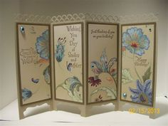 screen cards from Vickie's tutorial by muscrat - Cards and Paper Crafts at Splitcoaststampers