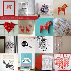 Lauren Elise Crafted - Blog - Etsy Treasury: Dala Horse Loves ScandinavianDesign