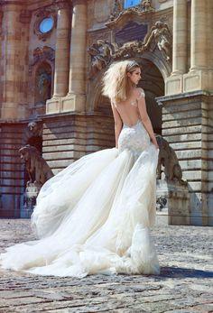 Vedere spettacolare nuova 2016 Collection Ivory Tower abito da sposa di Galia Lahav Haute Couture