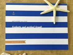 Nautical theme guest book