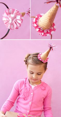 ice cream cone hat for an ice cream party.