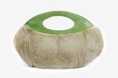 """Milano"" leather and rabbit fur handbag Rabbit Fur, Tissue Holders, Leather Bag, Bags, Accessories, Handmade Bags, Handbags, Leather Satchel, Totes"