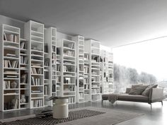 The best home library design ideas for your home, and how to organizing your home library furniture with top solutions, home libraries, home library organization images Italian Furniture, Luxury Furniture, Home Furniture, Furniture Ideas, Modern Bookshelf, Bookshelf Design, White Bookshelves, Bookcases, Home Library Design
