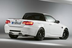 Cool rear 3/4 view of the BMW M3 truck.