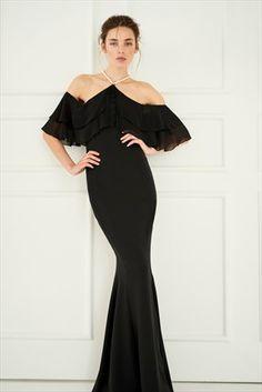 Siyah İncili Elbise