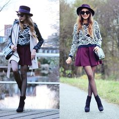 Vivilli Printed Sweater, Chicwish Trench Coat | Printed sweater (by Virgit Canaz) | LOOKBOOK.nu