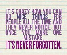 nice things…forgotten
