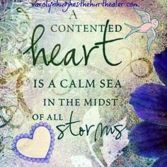A contented heart...