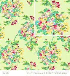 Amy Butler, Love - Water Bouquet mint