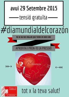 Hoy #diamundialdelcorazon .Hoy toma de tensión gratuita.No hay nada mas importante que tener un buen #corazón, ;-)