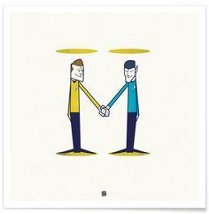 Love, final frontier as Premium Poster by Ale Giorgini | JUNIQE