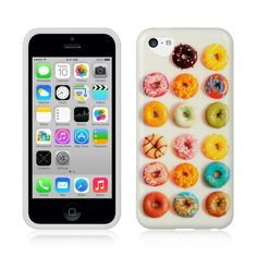 Cute Donuts TPU IMD Gel Skin Cover Case for Apple iPhone 5c USA Shipping   eBay