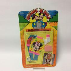 Vintage 1986 Disney Mickey & Pals Shillman Doll Clothes Funwear Minnie | eBay