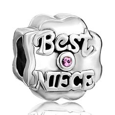 b7561d04b Pugster Rose Pink Bling Swarovski Crystal Best Niece Bead Fit Pandora  Charms Jewelry Pandora Bracelet Charms