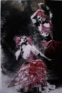 Embroidered Vintage Dancer Photographs  Artist Jose Romussi Re-Evokes Frozen Movements with Energy