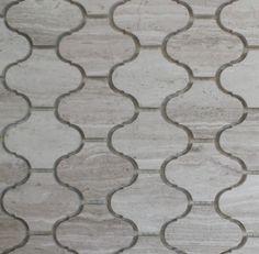"Marble Lantern Shaped Mosaic Tile 11.0"" X 11.0"", Wooden Grey, 1 Carton ( 15 Shee - contemporary - Mosaic Tile - GL Stone LTD"