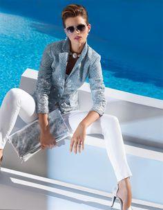 Knöchellange Damenjeans in den Farben fango, bleached, weiß, schwarz, rot - grau, blau - im MADELEINE Mode Onlineshop