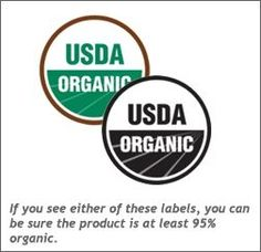To recognizeOrganic and Non-GMO foods more easily,it's helpful to review the various organic and non-GMO labels and the current labeling requirements in the U.S. and Canada.  1.100% Organic:Must contain 100% organically produced ingredients (excluding water and salt). This is the only label that certifies a completely organic product AND is also completely non-GMO.  2.Certified Organic / USDA Organic / Organic:At least 95% of content is organic by weight (excluding water and salt).