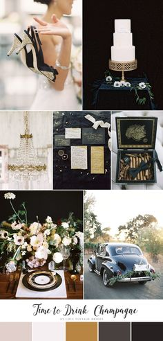 Time to Drink Champagne - Romantic & Glamorous New Years Wedding Inspiration
