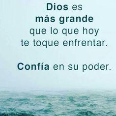 Dios es grande #frasescristianas #reflexionescristianas