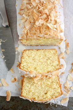 Coconut-Buttermilk Pound Cake. #food #coconut #cakes #desserts