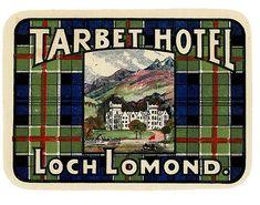 Hotel Tarbet Hotel Loch Lomond Scotland label | Flickr - Photo Sharing!