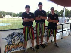 Interns wearing their Loudmouth shorts Lightning, Shorts, How To Wear, Lightning Storms, Lighting, Short Shorts, Hot Pants
