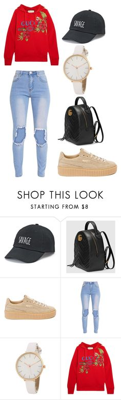 """""""W O M E N S  S T Y L E"""" by hamiltonm737 ❤ liked on Polyvore featuring SO, Gucci and Puma"""