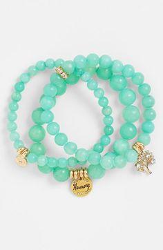 Sequin Beaded Stretch Bracelets (Set of 3) | Nordstrom