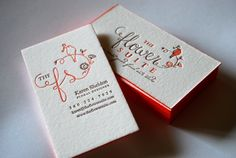 honeybeepress.com for letterpress business cards... makes me wish I needed to advertise!! #LoveLetterpress