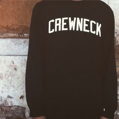 "Crewneck fourteen // ""propaganda"" series long sleeve in black and white print"
